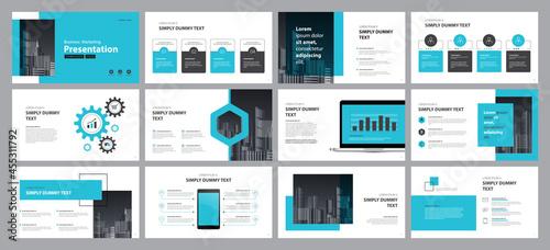 Fotografie, Obraz business presentation design template  backgrounds and page layout design for br