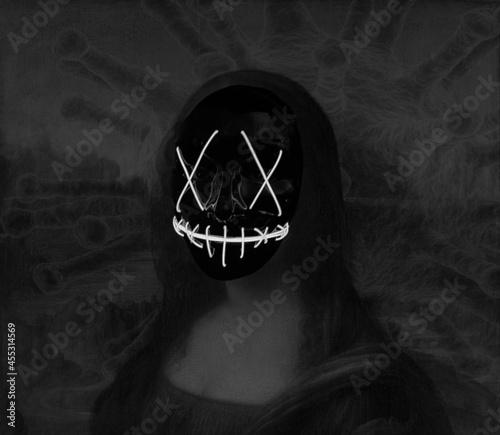 Canvas Print The Evil Mona Lisa - Ghostwoman