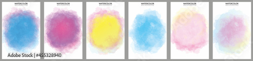 Fényképezés big bundle set of bright vector colorful watercolor background useful for any pr