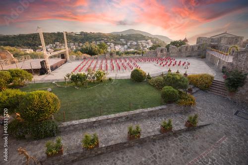 Foto Panorama della città di agropoli, cilento, campania