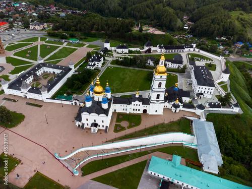 Fototapeta Bird eye view onto Tobolsk Kremlin in summer day