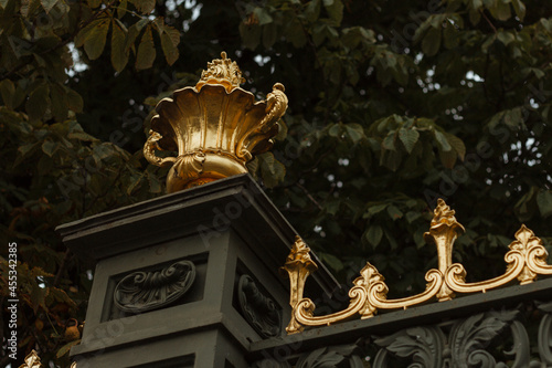 Fotografia Cup decoration of the lattice of the palace fence royal