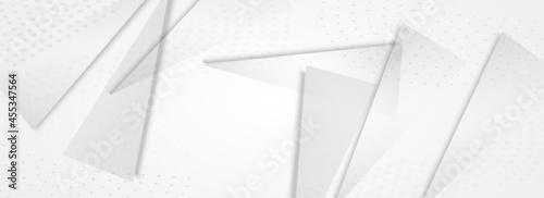 Fotografia Transparent Geometric Modern Vector Panoramic