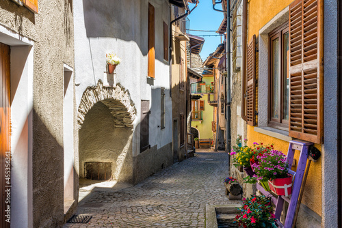 The picturesque village of Exilles, in the Susa Valley Fototapeta
