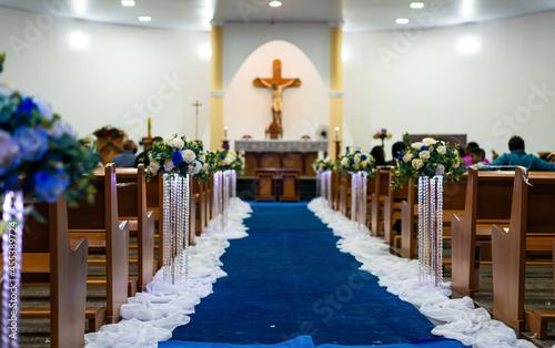 Canvas-taulu igreja, casamento, cerimônia, decoração, festa de casamento, evento