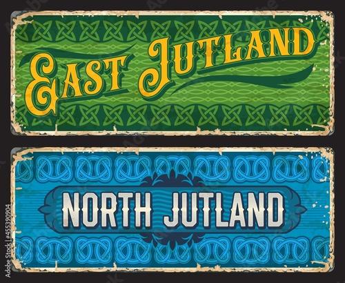 Fotografie, Obraz East and North Jutland Denmark plates