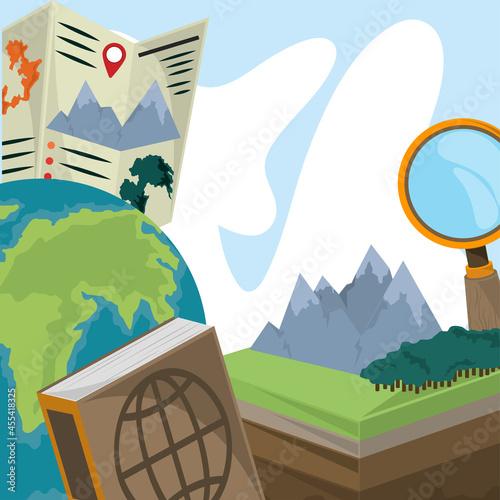 Canvastavla geography exploration and travel