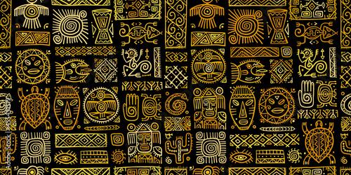 Obraz na plátně Ethnic mexican decor