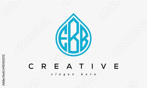 Fotografie, Obraz Water drop letters EBB logo initial template vector