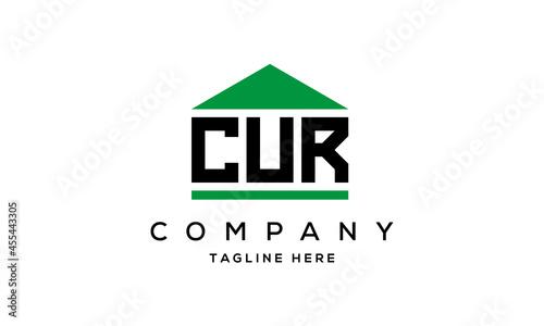Stampa su Tela letter CUR house for real estate logo design vector