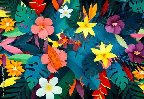 Fotografia Tropical botanic paper craft handmade collection