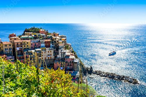 Fototapeta Italy. Liguria. Cinque Terre. The village of Manarola