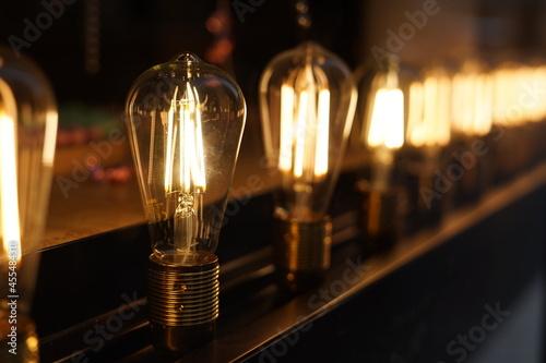 Ampoules décoration vitrine Fotobehang