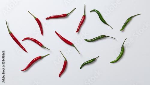 Obraz na plátně chili peppers on white background
