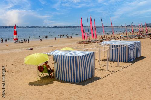 Fotografie, Obraz La plage de La baule