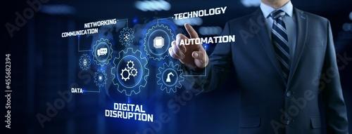 Fotografie, Obraz Digital disruption industry transformation technology revolution concept