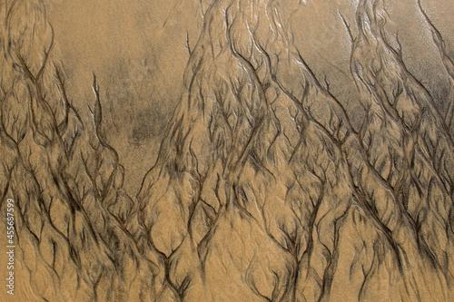 Fotografie, Obraz Muster im Sand bei Ebbe