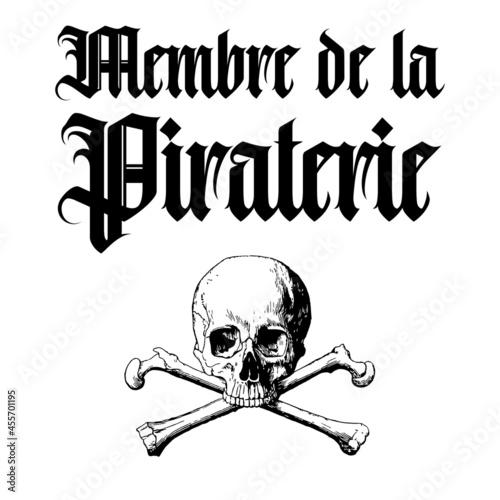 Membre de la piraterie Fototapeta