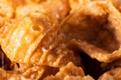 Crispy fried confectionery in the shape of a conch eaten in Korea Fototapet