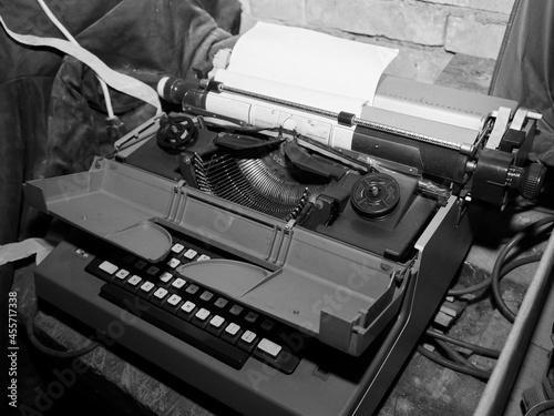Murais de parede vecchia macchina da scrivere