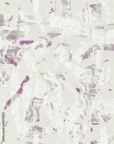 Abstrakcja, obraz na płótnie w tonacji szaro fioletowej. Druk na tkaninę, ozdobny papier, grafika na ścianę, tło.