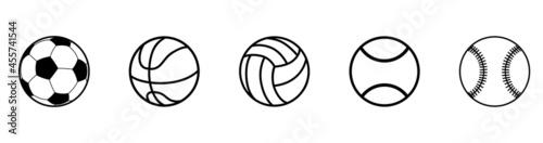 Fotografía Sports balls icon set