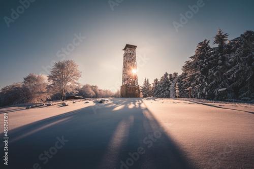 Fotografie, Obraz Lopenik lookout tower, Czech Republic