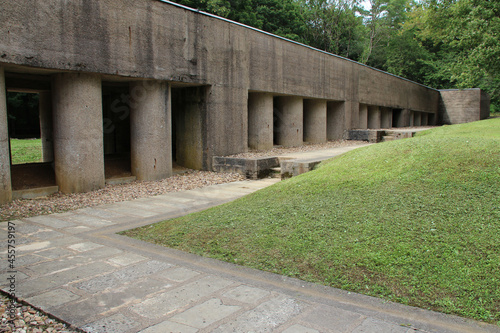 the trench of bayonets closed to verdun in lorraine (france) Fototapet