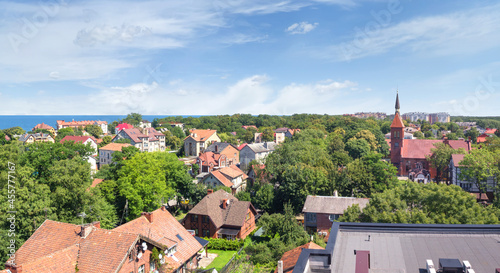 Obraz na płótnie A magnificent cityscape that can be seen from the observation deck of the water tower in the city center