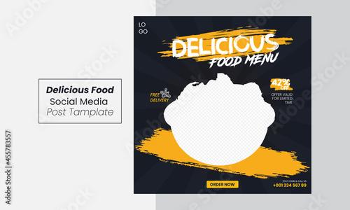 Fotografie, Obraz Food menu post, delicious food poster, social media food post, social media Inst