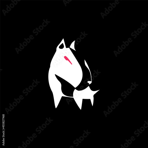 Bull terrier illustration. Fototapet