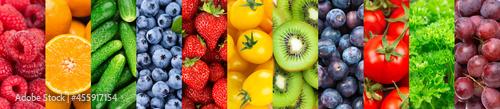 Fotografie, Obraz Fruts and vegetables. Background. Fresh food. Healthy food