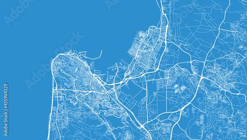Foto Urban vector city map of Haifa, Israel, middle east