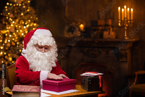 Canvas Print Workplace of Santa Claus