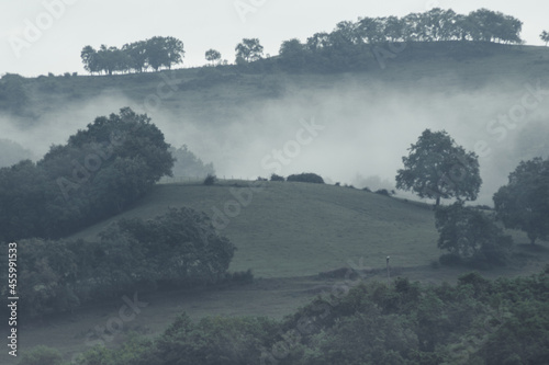 Amanecer nublado en Maroño, Álava.Foggy sunrise in Maroño, Álava.