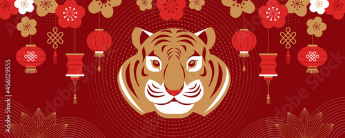 Fotografia Chinese new year 2022 year of the tiger - Chinese zodiac symbol