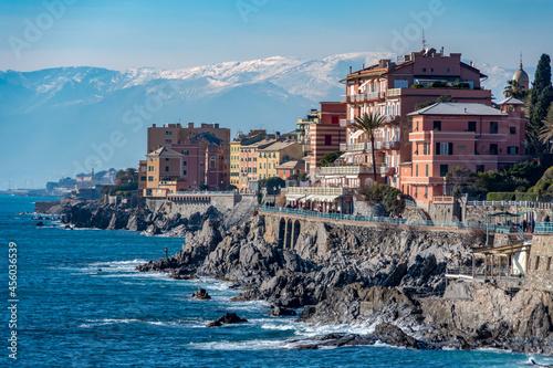 Fotografie, Obraz Italy. Liguria. Genoa. Nervi. Residential district