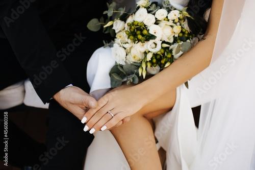 bride and groom Fotobehang