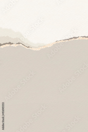 Ripped brown note paper template vector Fototapet