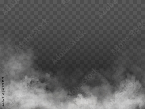 Fotografering Fog or smoke isolated transparent special effect