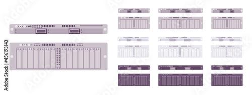 Obraz na płótnie Server modules set, technology for high performance computing system