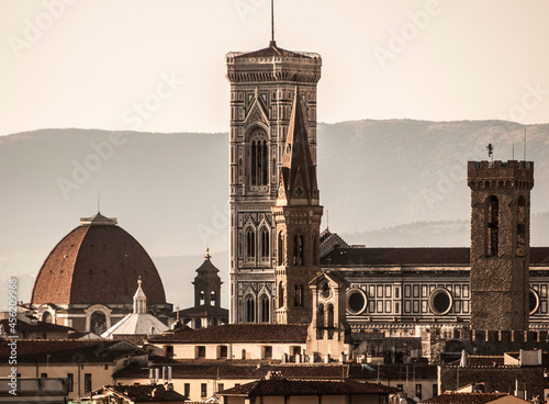 Italia, Toscana, Firenze, il campanile di Giotto. Fototapeta