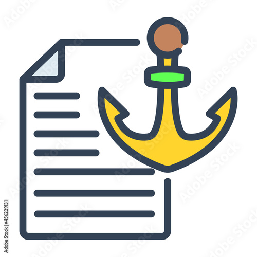 anchor text flat line design, SEO and web flat design for mobile concepts and web apps Fotobehang