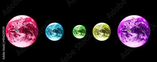 Fotografia Planetas e sistema solar, simulação utópica e abstrata