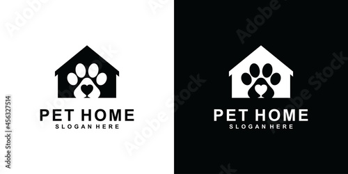 Fotografiet Pet Home vector logo design template.