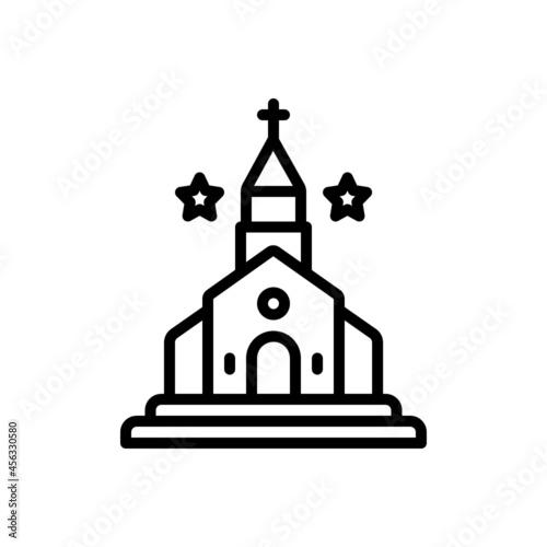 Valokuvatapetti Black line icon for kirk