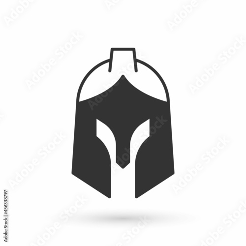 Fotografie, Obraz Grey Roman army helmet icon isolated on white background. Vector