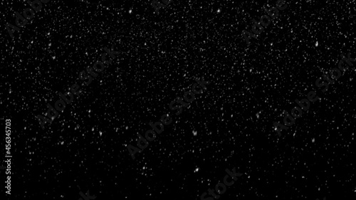 Foto snow falling stock image  black background