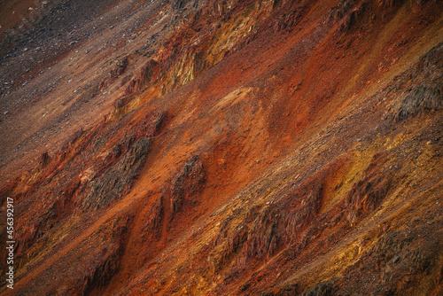 Slika na platnu Scenic nature background of multicolor mountain