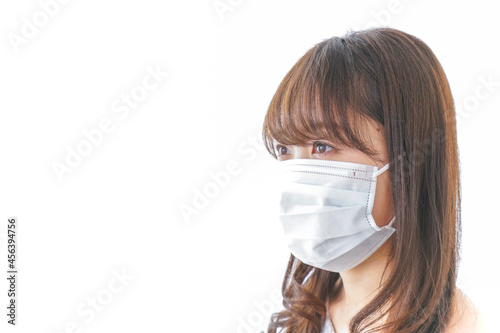 Obraz na plátně 風邪をひいた女性